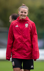 NEWPORT, WALES - Tuesday, October 1, 2019: Wales' Loren Dykes during a training session at Dragon Park ahead of the UEFA Women's Euro 2021 Qualifying Group C match between Belarus and Wales. (Pic by Kunjan Malde/Propaganda)