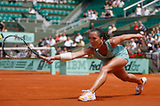 Roland Garros. Paris, France. June 1st  2008..Jelena JANKOVIC against Agnieszka RADWANSKA..Round of 16 (4th Round)...