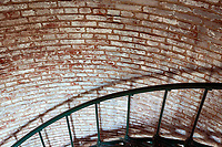 NC00760-00...NORTH CAROLINA - Stairwell inside the Currituck Light Station in the town of Corolla on the Outer Banks.