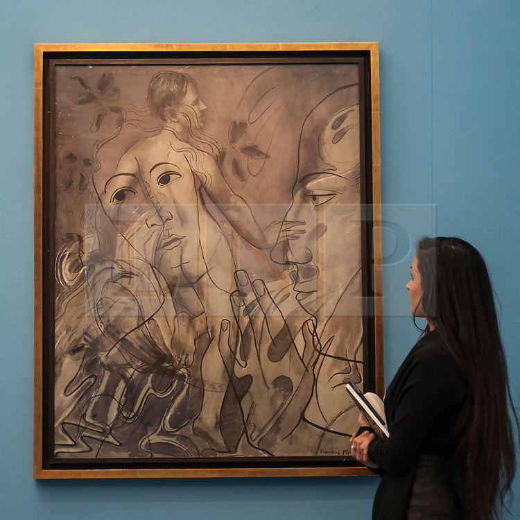 """© Licensed to London News Pictures. 28/01/2016. London, UK.   """"Transparence (La Source"""" by Francis Picabia (est. £0.45-0.65m), on display at Sotheby's preview of its upcoming Impressionist, Modern & Surrealist art sale on 3 February featuring works by some of the most important artists of the 20th century.  The combined total of the evening sale is expected to exceed £100m. Photo credit : Stephen Chung/LNP"""