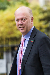 London, October 31 2017. Transport Secretary Chris Grayling attends the UK cabinet meeting at Downing Street. © Paul Davey