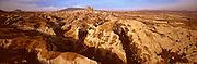 TURKEY, ANATOLIA, CAPPADOCIA Uchisar village and castle on rock