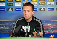 01/10/14<br /> LENNOXTOWN<br /> Celtic manager Ronny Deila talks to the press ahead of his sides UEFA Europa League clash against GNK Dinamo Zagreb