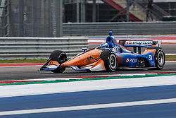 March 23, 2019 - Austin, TX, U.S. - AUSTIN, TX - MARCH 23: Scott Dixon (9) in the PNC Bank Chip Ganassi Racing, Honda powered Dallara IR-18 at turn 18 during Practice 3 at the IndyCar Classic held March 22-24, 2019 at the Circuit of the Americas in Austin, TX. (Photo by Allan Hamilton/Icon Sportswire) (Credit Image: © Allan Hamilton/Icon SMI via ZUMA Press)