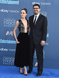 Celebrities arrive on the red carpet for the 22nd Annual Critics' Choice Awards held at Barker Hanger in Santa Monica. 11 Dec 2016 Pictured: Emmy Rossum, Sam Esmail. Photo credit: American Foto Features / MEGA TheMegaAgency.com +1 888 505 6342