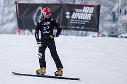 Zan Kosir (SLO) during Final Run at Parallel Giant Slalom at FIS Snowboard World Cup Rogla 2019, on January 19, 2019 at Course Jasa, Rogla, Slovenia. Photo byJurij Vodusek / Sportida
