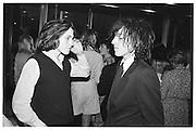 Huckleberry and Barnaby Harrod. Lord Antony Lambton book party, Arts Club. 19 September 1983. © Copyright Photograph by Dafydd Jones 66 Stockwell Park Rd. London SW9 0DA Tel 020 7733 0108 www.dafjones.com
