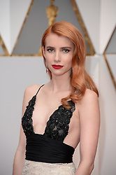 Emma Roberts arrives for the 89th Academy Awards (Oscars) ceremony at the Dolby Theater in Los Angeles, CA, USA, February 26, 2017. Photo by Lionel Hahn/ABACAPRESS.COM