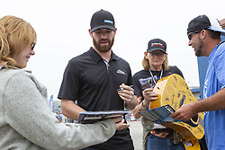 June 10, 2018 - Brooklyn, Michigan, U.S - NASCAR driver COREY LAJOIE (72) signs autographs at Michigan International Speedway. (Credit Image: © Scott Mapes via ZUMA Wire)