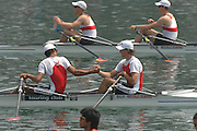 Beijing, CHINA, SUI, JM2X, bow, Raffael ROEMER and Elais FARHAN, during the  2007. FISA Junior World Rowing Championships Shunyi Water Sports Complex. Wed. 08.08.2007  [Photo, Peter Spurrier/Intersport-images]..... , Rowing Course, Shun Yi Water Complex, Beijing, CHINA,