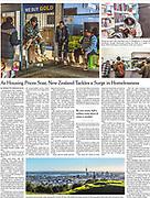 New York Times Tearsheet of New Zealand Homeless crisis by Australian Melbourne based photojournalist Asanka Brendon Ratnayake