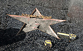 Donald Trump Hollywood star vandilazed