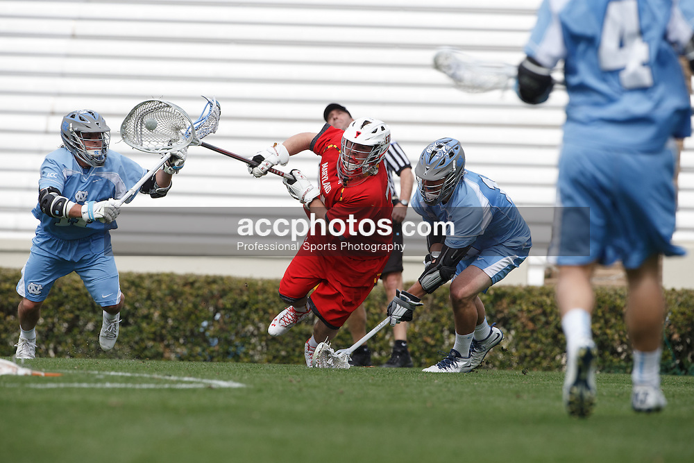 CHAPEL HILL, NC - MARCH 22: Niko Amato #31 of the Maryland Terrapins during a game against the North Carolina Tar Heels on March 22, 2014 at Kenan Stadium in Chapel Hill, North Carolina. North Carolina won 11-8. (Photo by Peyton Williams/Inside Lacrosse)