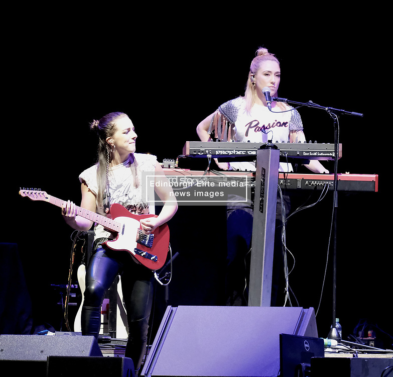 Hall and Oates Tour, Wednesday 1st May 2019<br /> <br /> Pictured: Support Artist KT Tunstall's lead guitarist Hattie Moran and keyboard player Clair Uchima<br /> <br /> Aimee Todd   Edinburgh Elite media