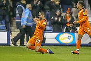 Goal!…Luton Town forward Elliot Lee (10) scores a goal and celebrates during the EFL Sky Bet League 1 match between Luton Town and Bradford City at Kenilworth Road, Luton, England on 27 November 2018.