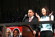 l to r: Governor David Patterson and wife, Michelle Paige-Patterson at the Pre-Election party hosted by Congressman Charles Rangel held on the grounds of The Adam Clayton Powell State Office Building in Harlem on Election night, November 4, 2008..Democratic Presidential Candidate Barack Obama is declared victor and President-Elect as the 44th U.S. President making him the first African-American President in its 225 year history.