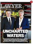 Australasian Lawyer Magazine portraits of joint CEO's Sonya Leydecker and Mark Rigotti, Sydney
