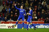 Football - Europa League - Stoke City vs. Dynamo Kiev<br /> Kiev's Oleksandr Aliyev celebrates his side going 0:1 up at the Britannia Stadium