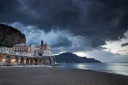 Stormy Sky, Atrani Italy. Atrani is a beautiful and ancient village on the beautiful Amalfi Coast of Italy