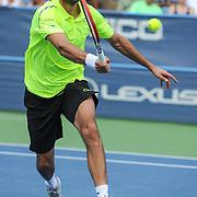 MARIN CILIC of Croatia plays against Kei Nishikori of Japan  at Day 6 of the Citi Open at the Rock Creek Tennis Center in Washington, D.C. Nishikori won in 3 sets.