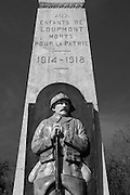 """Saint-Mihiel Salient Battlefield France. French Memorial at Loupmont. March 2014<br /> The Battle of Saint-Mihiel was a World War I battle fought from 12-15 September 1918, involving the American Expeditionary Force and 48,000 French troops under the command of General John J. Pershing of the United States against German positions. The United States Army Air Service (which later became the United States Air Force) played a significant role in this action.[2][3]<br /> <br /> This battle marked the first use of the terms """"D-Day"""" and """"H-Hour"""" by the Americans.<br /> <br /> The attack at the St. Mihiel Salient was part of a plan by Pershing in which he hoped that the United States would break through the German lines and capture the fortified city of Metz. It was one of the first U.S. solo offensives in World War I and the attack caught the Germans in the process of retreating.[3] This meant that their artillery were out of place and the American attack proved more successful than expected. Their strong blow increased their stature in the eyes of the French and British forces, but again demonstrated the critical role of artillery during World War I and the difficulty of supplying the massive World War I armies while they were on the move. The U.S. attack faltered as artillery and food supplies were left behind on the muddy roads.[1] The attack on Metz was not realized, as the Germans refortified their positions and the Americans then turned their efforts to the Meuse-Argonne offensiv"""