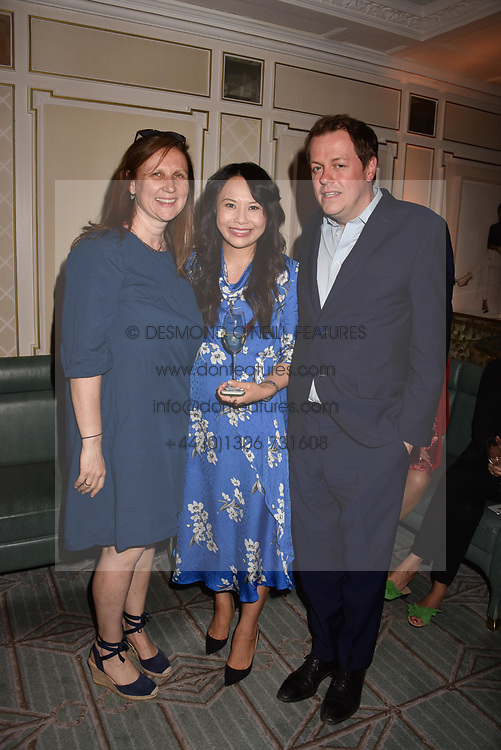 Angela Hartnett, Tom Parker Bowles and Ching He Huang at the Fortnum & Mason Food and Drink Awards, Fortnum & Mason Food and Drink Awards, London, England. 10 May 2018.