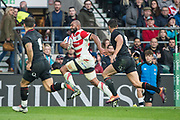 Twickenham, United Kingdom, Saturday, 17th  November 2018, RFU, Rugby, Stadium, England, Michael LEITCH, strides out on the wing, during the  Quilter Autumn International, England vs Japan, © Peter Spurrier
