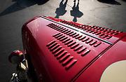 Image detail of a vintage hot rod at a Santa Barbara Cars & Coffee meet-up in Santa Barbara, California, America west coast by Randy Wells