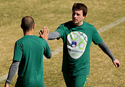 Ales Zavrl of NZS during the friendly match between Slovenian football journalists and officials of Slovenian football federation at  Hyde Park High School Stadium on June 16, 2010 in Johannesburg, South Africa.  (Photo by Vid Ponikvar / Sportida)