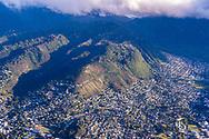 Aerial photograph of Manoa Valley, Honolulu, Oahu, Hawaii