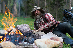 Nick Huff of Knives By Nick just outside Red River, NM, USA. Saturday, May 29, 2021. Photography ©2021 Michael Lichter.