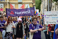 Nat West banner, Norwich Pride 30 July 2016 UK