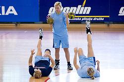 Maja Zrnec at practice of Slovenian Handball Women National Team, on June 3, 2009, in Arena Kodeljevo, Ljubljana, Slovenia. (Photo by Vid Ponikvar / Sportida)