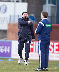 Dundee's manager Paul Hartley. <br /> Dundee 1 v 1 Inverness Caledonian Thistle, SPFL Ladbrokes Premiership game played at Dens Park, 27/2/2016.