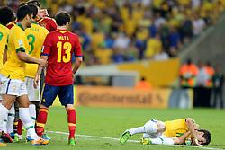 Oscar na partida entre Brasil e Espanha válida pela final da Copa das Confederações 2013, no estádio Maracanã, no Rio de Janeiro. FOTO: Jefferson Bernardes/Preview.com