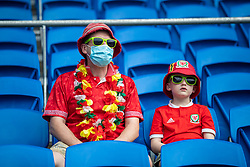 CARDIFF, WALES - Saturday, June 5, 2021: Wales supporters before an International Friendly between Wales and Albania at the Cardiff City Stadium in their game before the UEFA Euro 2020 tournament. (Pic by David Rawcliffe/Propaganda)