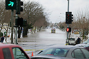 Napa River flood on December 31, 2005 in Napa on Soscol Ave looking north.