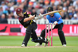 Somerset's Tom Abell bats during the Vitality T20 Blast Semi Final match on Finals Day at Edgbaston, Birmingham.