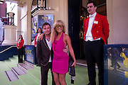 GREG BURNS; GEORGIE LEAHY, SHREK press night arrivals. Theatre Royal. Drury Lane. London. 14 June 2011. <br /> <br />  , -DO NOT ARCHIVE-© Copyright Photograph by Dafydd Jones. 248 Clapham Rd. London SW9 0PZ. Tel 0207 820 0771. www.dafjones.com.