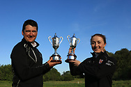 Colm Campbell Jnr (Warrenpoint) and Jessica Ross (Clandeboye) winners of the Ulster Stroke Play Championships at Galgorm Castle Golf Club, Ballymena, Northern Ireland. 28/05/19<br /> <br /> Picture: Thos Caffrey / Golffile<br /> <br /> All photos usage must carry mandatory copyright credit (© Golffile | Thos Caffrey)