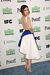 Anna Kendrick at the 2014 Film Independent Spirit Awards Arrivals, Santa Monica Beach, Santa Monica, United States, Saturday, 1st March 2014. Picture by Hollywood Bubbles / i-Images<br /> UK ONLY