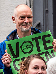 Pictured: Steve Burgess<br /><br />Scottish Green Party co-leader Lorna Slater and Lothian MSP Alison Johnstone joined Edinburgh General Election candidates as they canvased voters..<br /><br />Ger Harley | EEm 12 November 2019