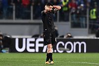 Antonio Candreva Lazio delusione Dejection <br /> Roma 17-03-2016 Stadio Olimpico Football Europa League Round of 16 second leg 2015/2016 Lazio - Sparta Praha. Foto Antonietta Baldassarre / Insidefoto