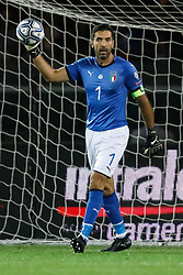 October 6, 2017 - Turin, Italy - Gianluigi Buffon of Italy national team in action during the 2018 FIFA World Cup Russia qualifier Group G football match between Italy and FYR Macedonia at Stadio Olimpico on October 6, 2017 in Turin, Italy. (Credit Image: © Mike Kireev/NurPhoto via ZUMA Press)