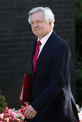 Downing Street, London, July 19th 2016. Secretary of State for Exiting the European Union David Davis arrives at the first full cabinet meeting since Prime Minister Theresa May took office.