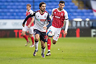 Bolton Wanderers Zack Elbouzedi during the EFL Sky Bet League 2 match between Bolton Wanderers and Cheltenham Town at the University of  Bolton Stadium, Bolton, England on 16 January 2021.