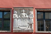 Austria, Innsbruck a building in Herzog-Friedrich Strasse in the historic town