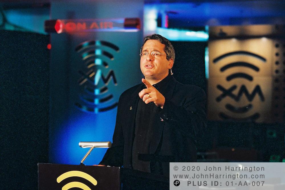 XM Satellite Radio CEO Hugh Panero prepares to launch his service on Tuesday September 25, 2001. .