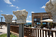 A restaurant in the old port at The ruins of Caesarea, on the Mediterranea sea, Israel