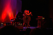 Clare Price doing tango with and Clive James. For One Night Only...Fundraiser For the South Bank Centre. Purcell Room, Royal Festival Hall.4 December  2005. ONE TIME USE ONLY - DO NOT ARCHIVE  © Copyright Photograph by Dafydd Jones 66 Stockwell Park Rd. London SW9 0DA Tel 020 7733 0108 www.dafjones.com